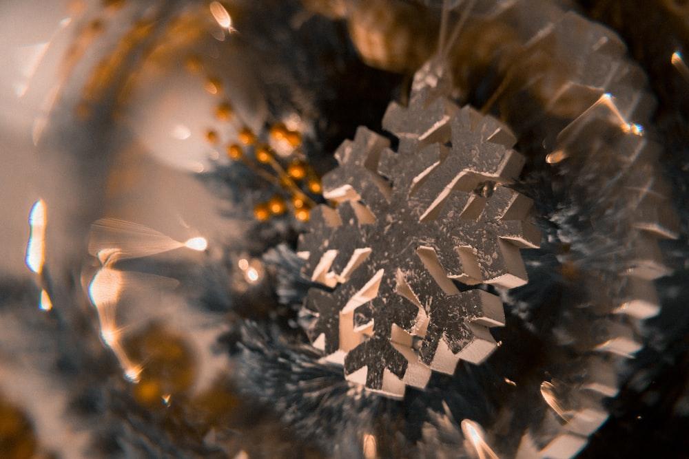 white snowflakes decor