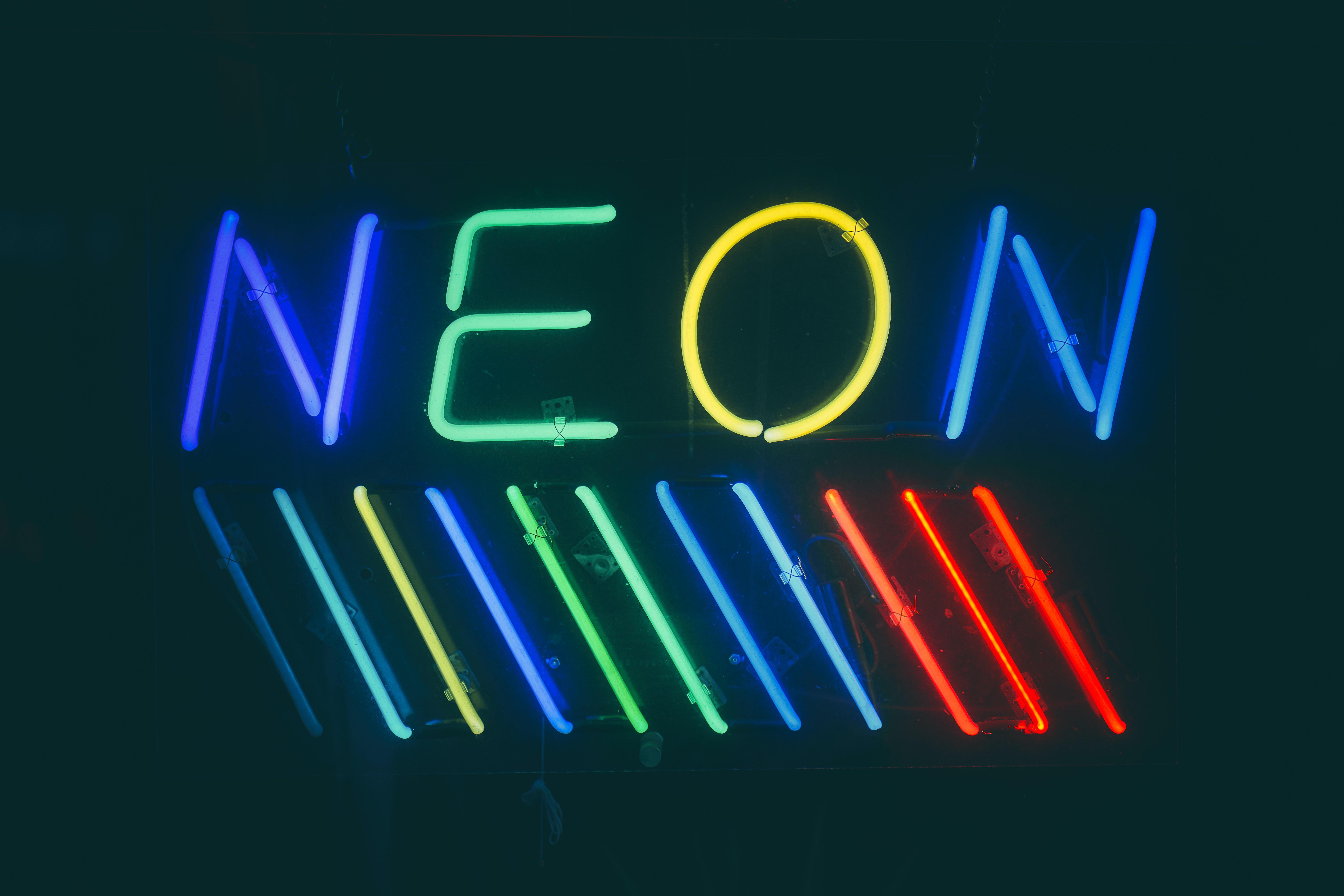 multicolored neon lights