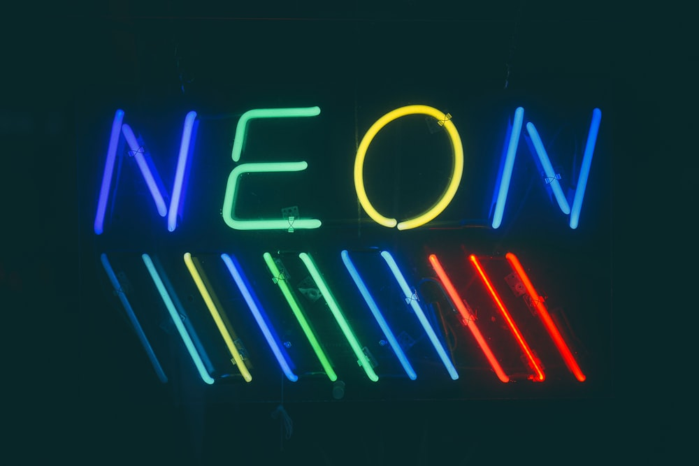 multicolored neon lights