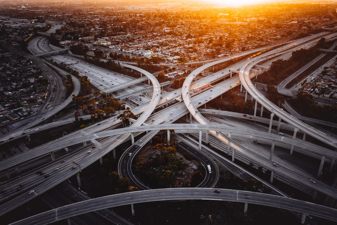 aerial photography of roads on city during daytime