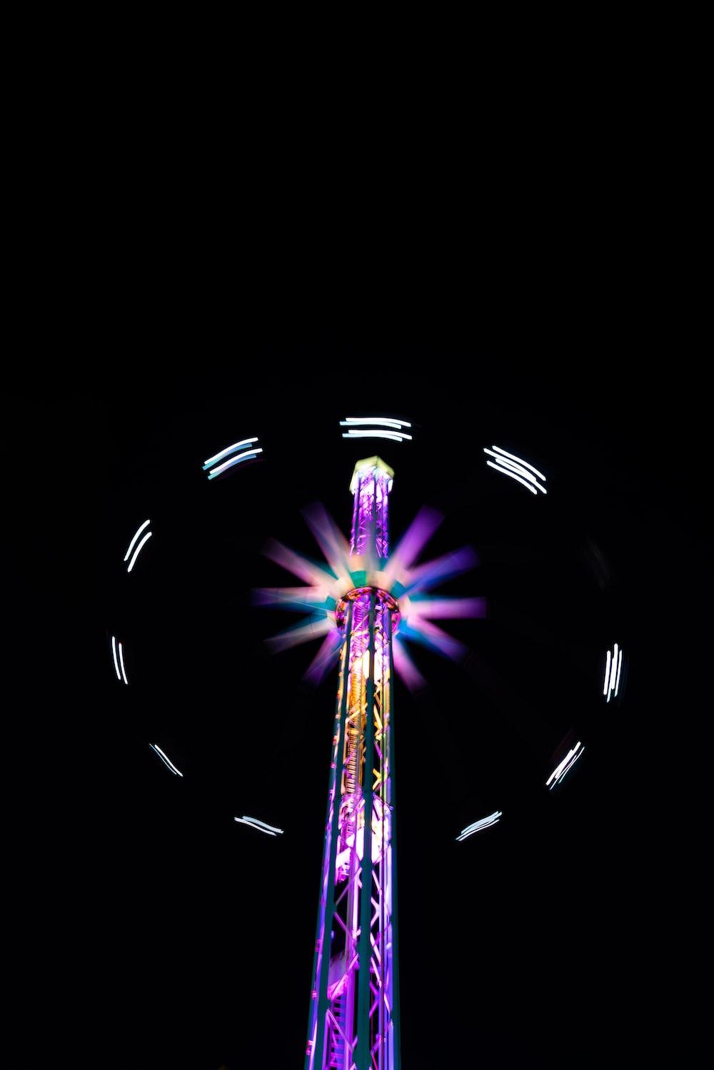 purple light tower