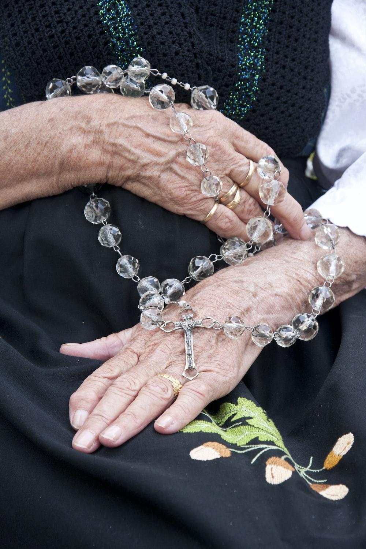 clear beaded rosary