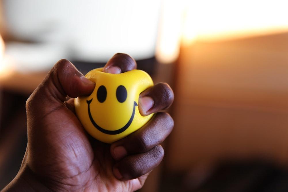 yellow emoticon plastic ball