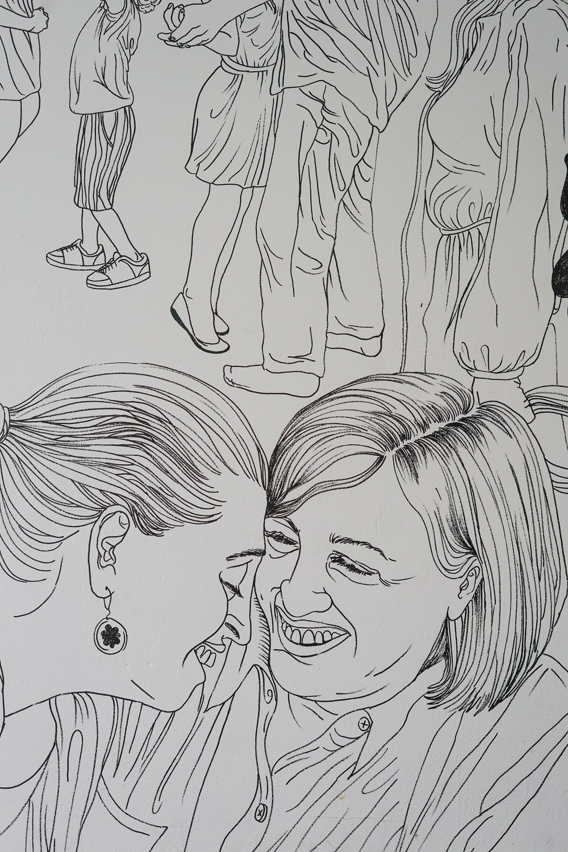 two woman sketch
