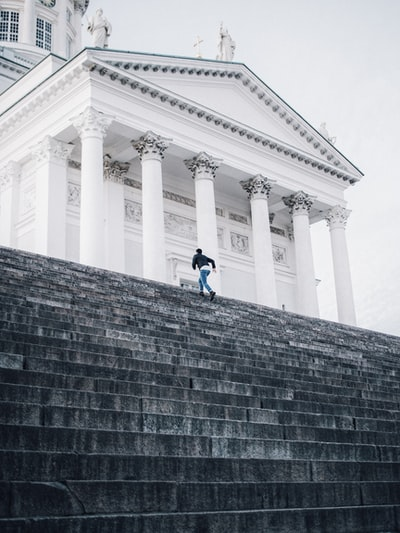 Stairs of Helsinki Cathedral