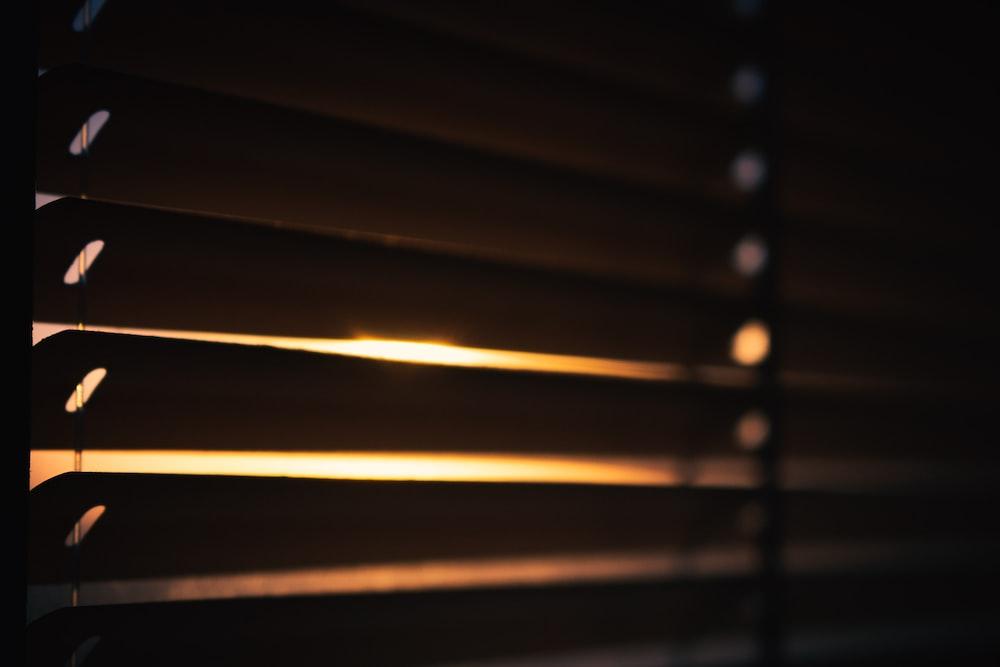 brown window blind