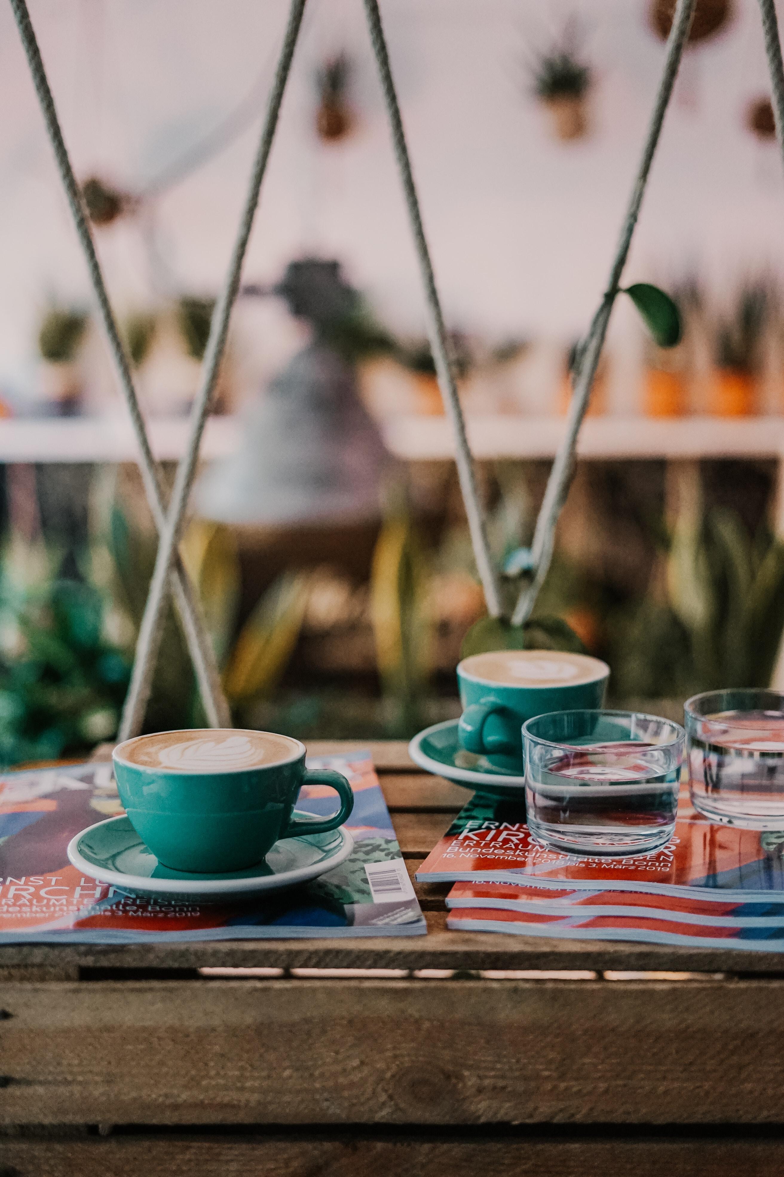 assorted color ceramic dinnerware set