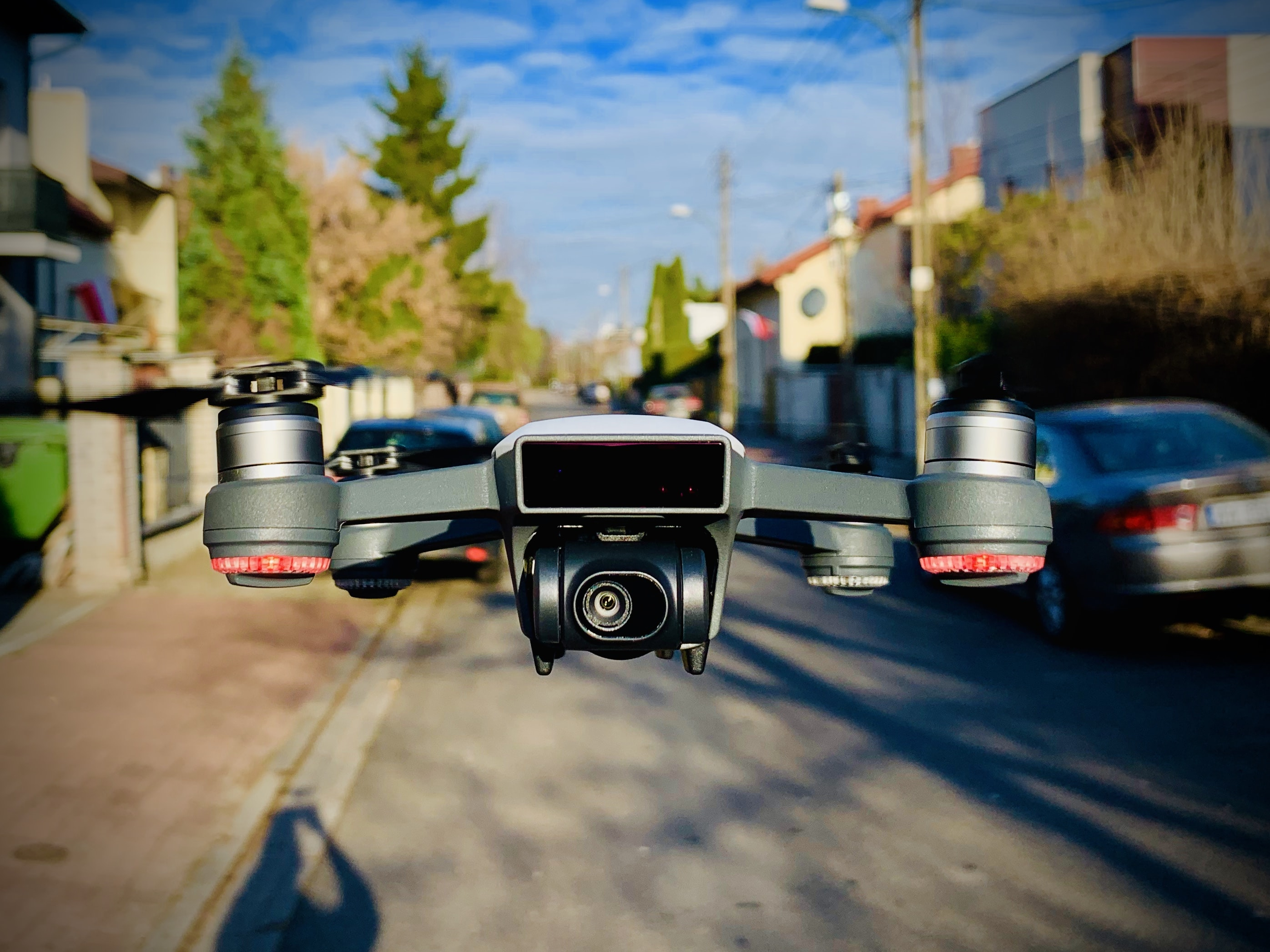 gray quadcopter drone during daytime