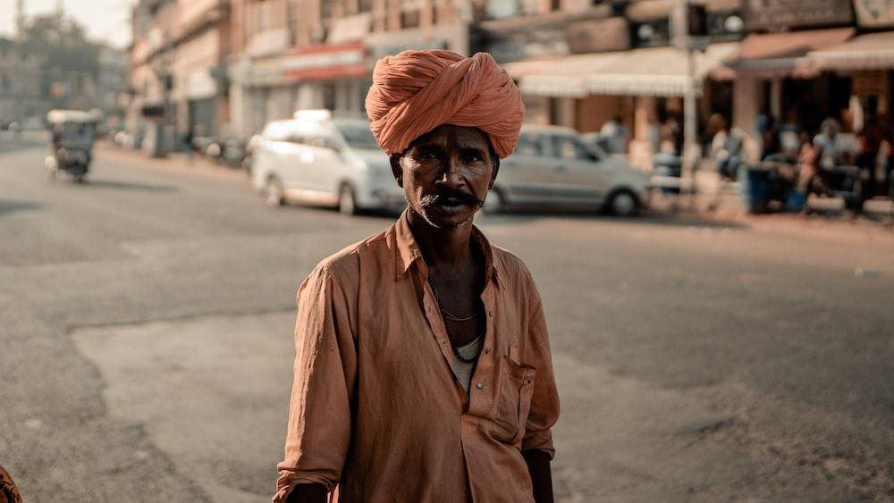 man wearing turban at the street