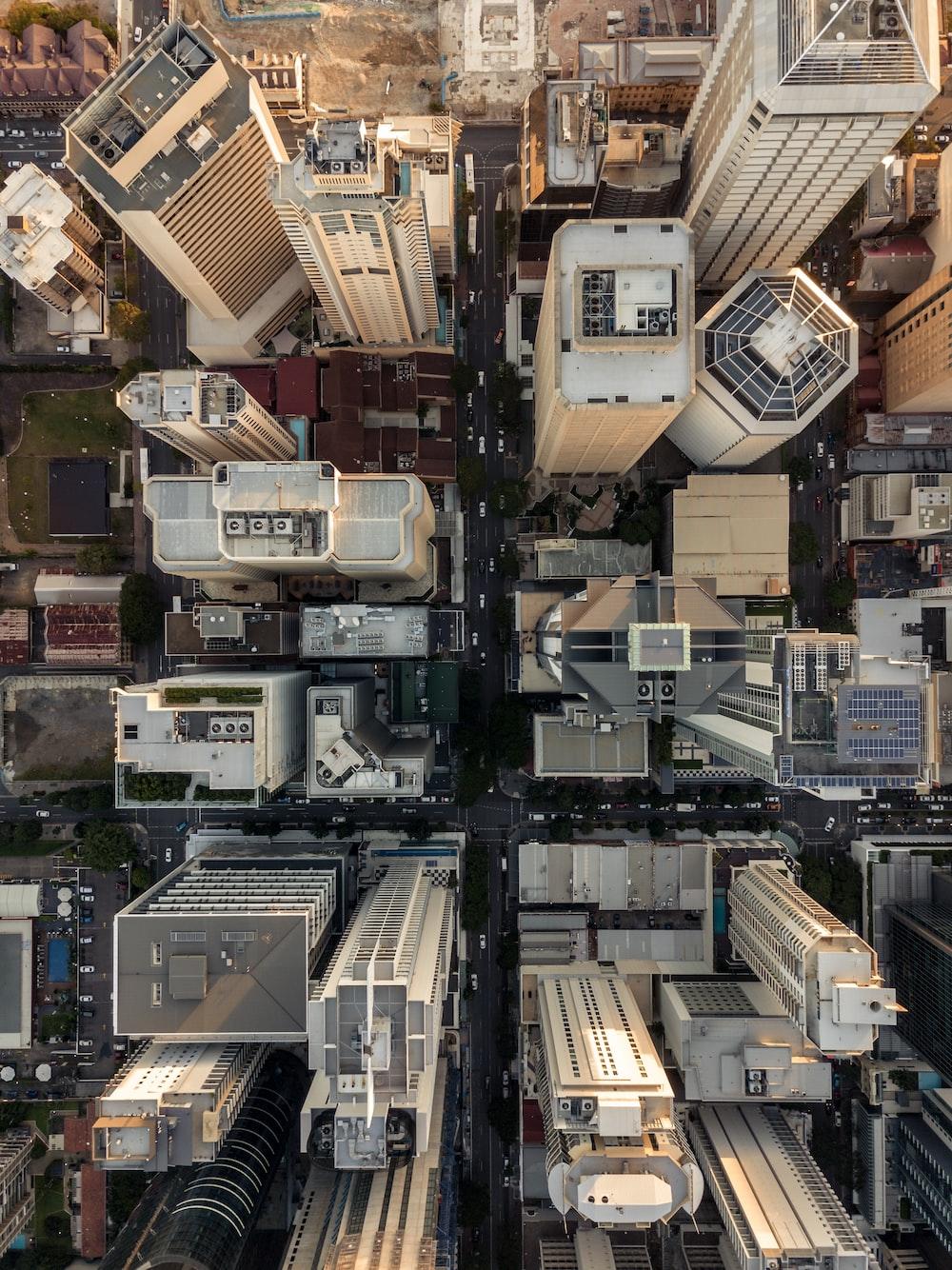 bird's eye view of buildings