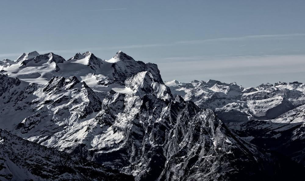 view of snowy peak