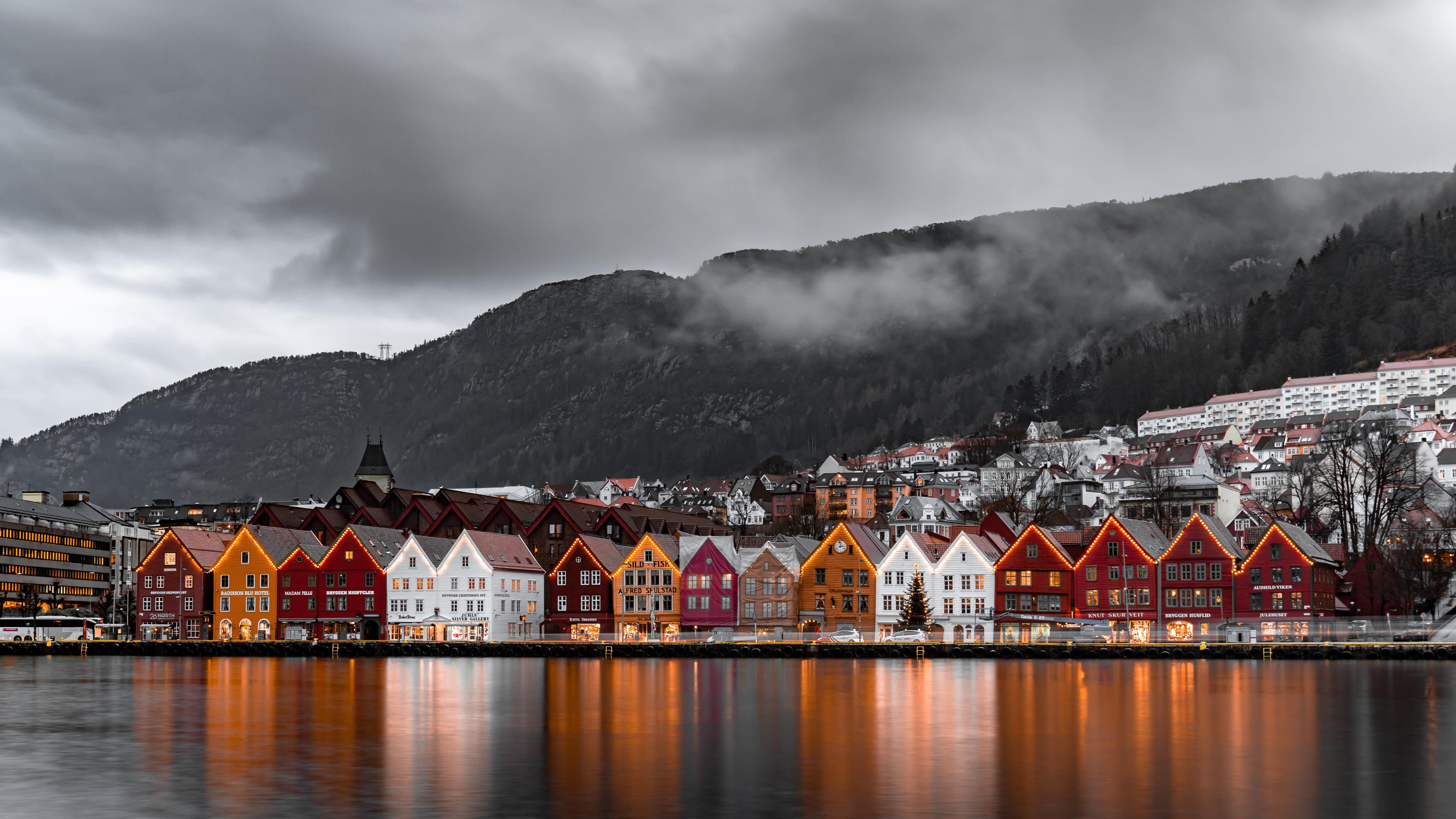 landscape view of Bergen, Norway