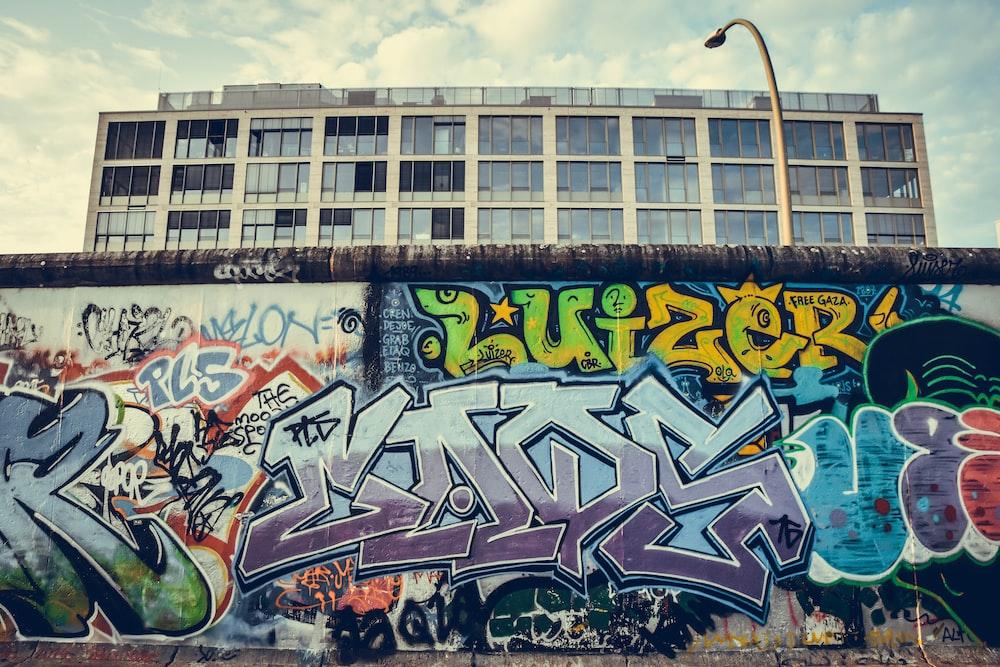 multicolored wall graffiti