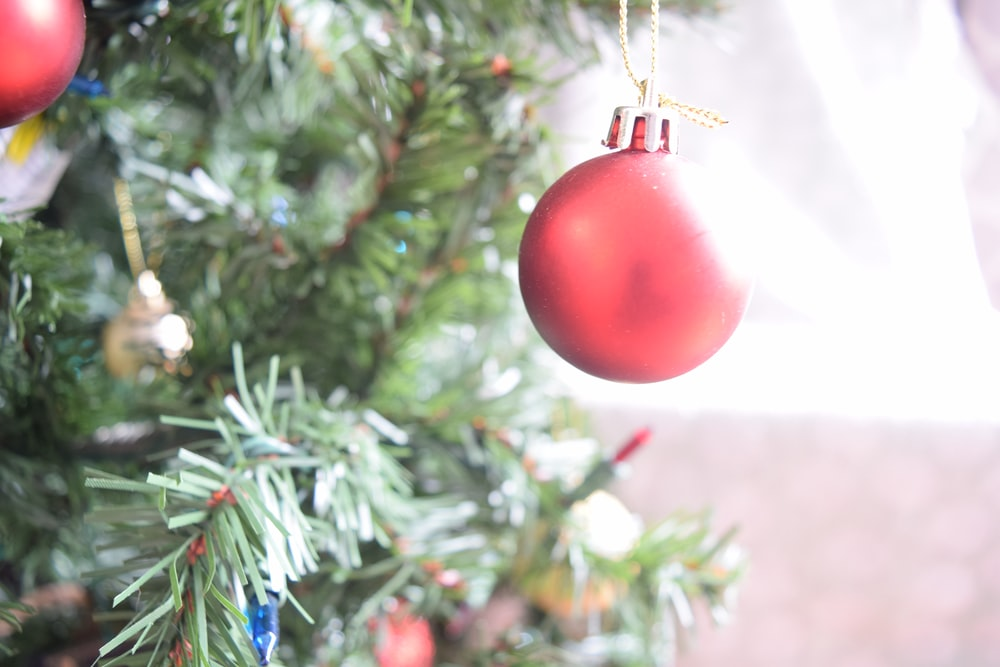 red Christmas ornament