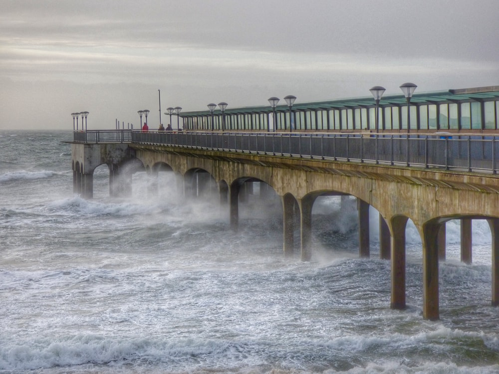 concrete bridge over water