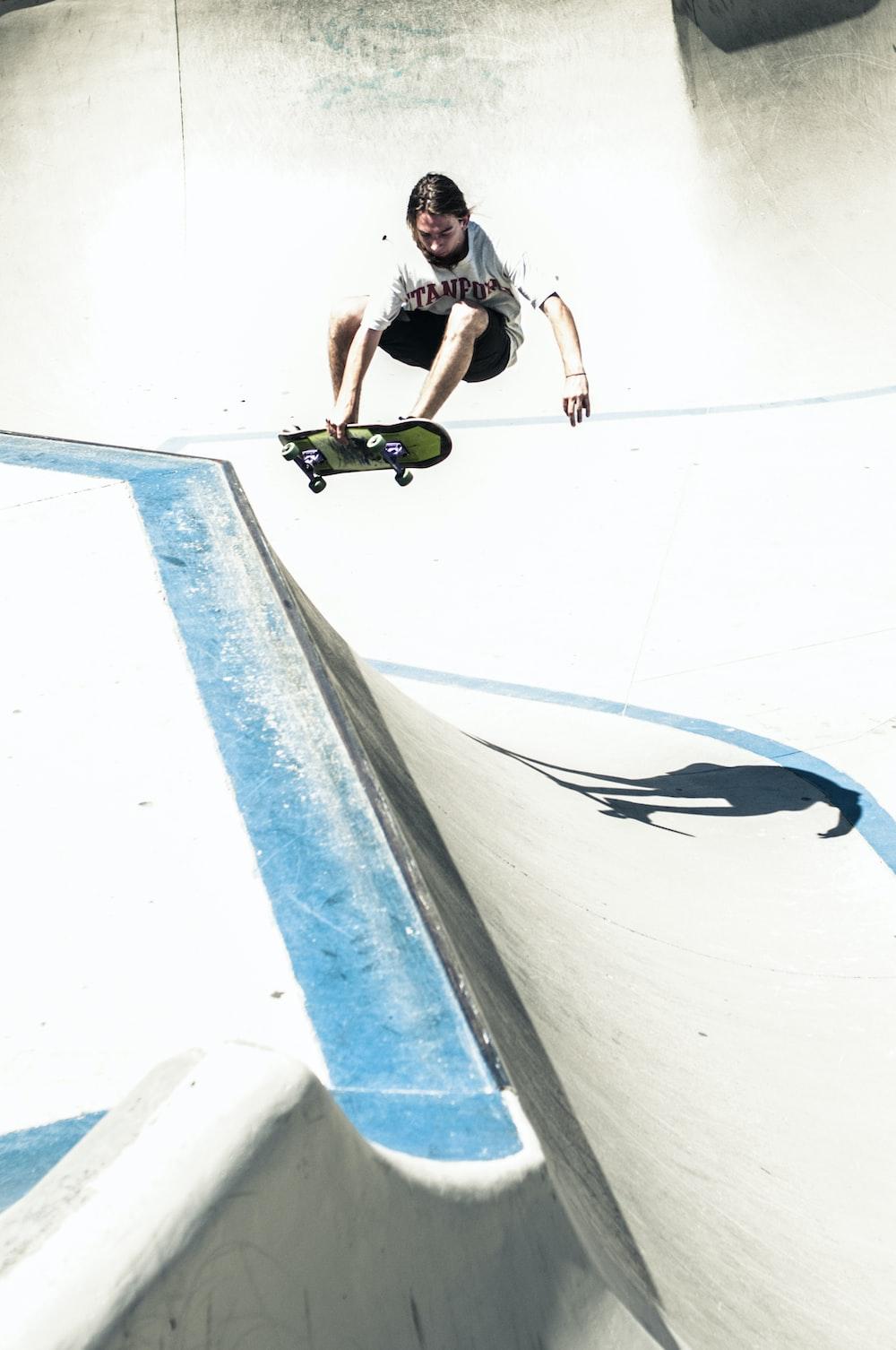 person riding skate board