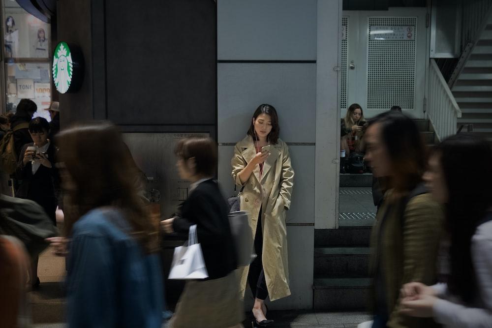 people walking inside building