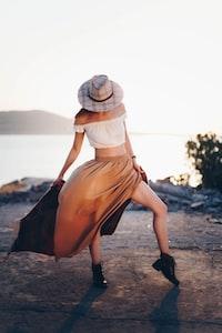 woman wearing white crop-top during daytime