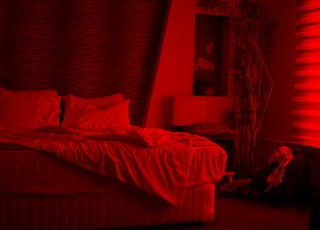 empty white bed inside room