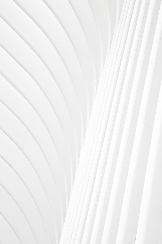 white and gray stripe textile