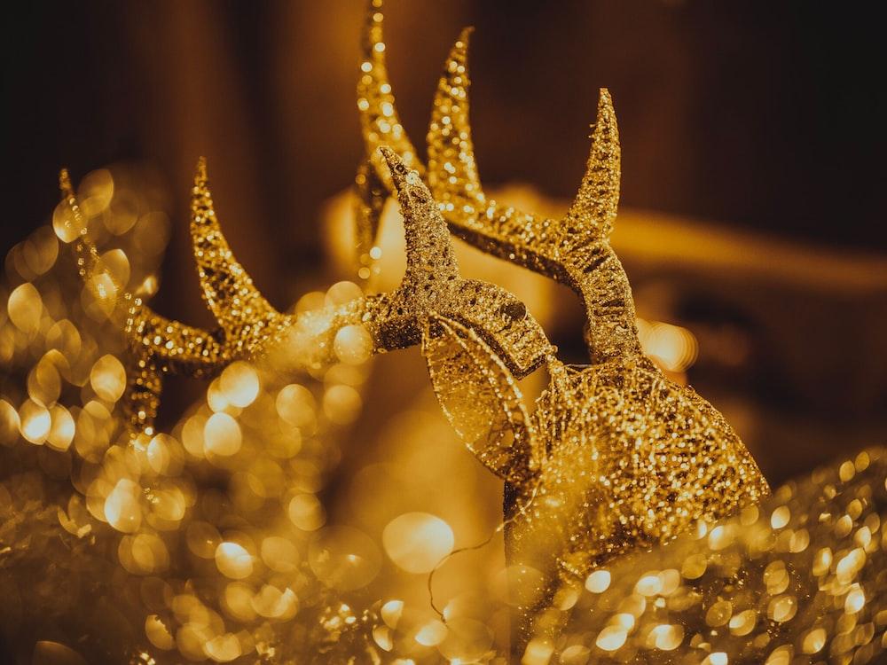 gold Deer ornament