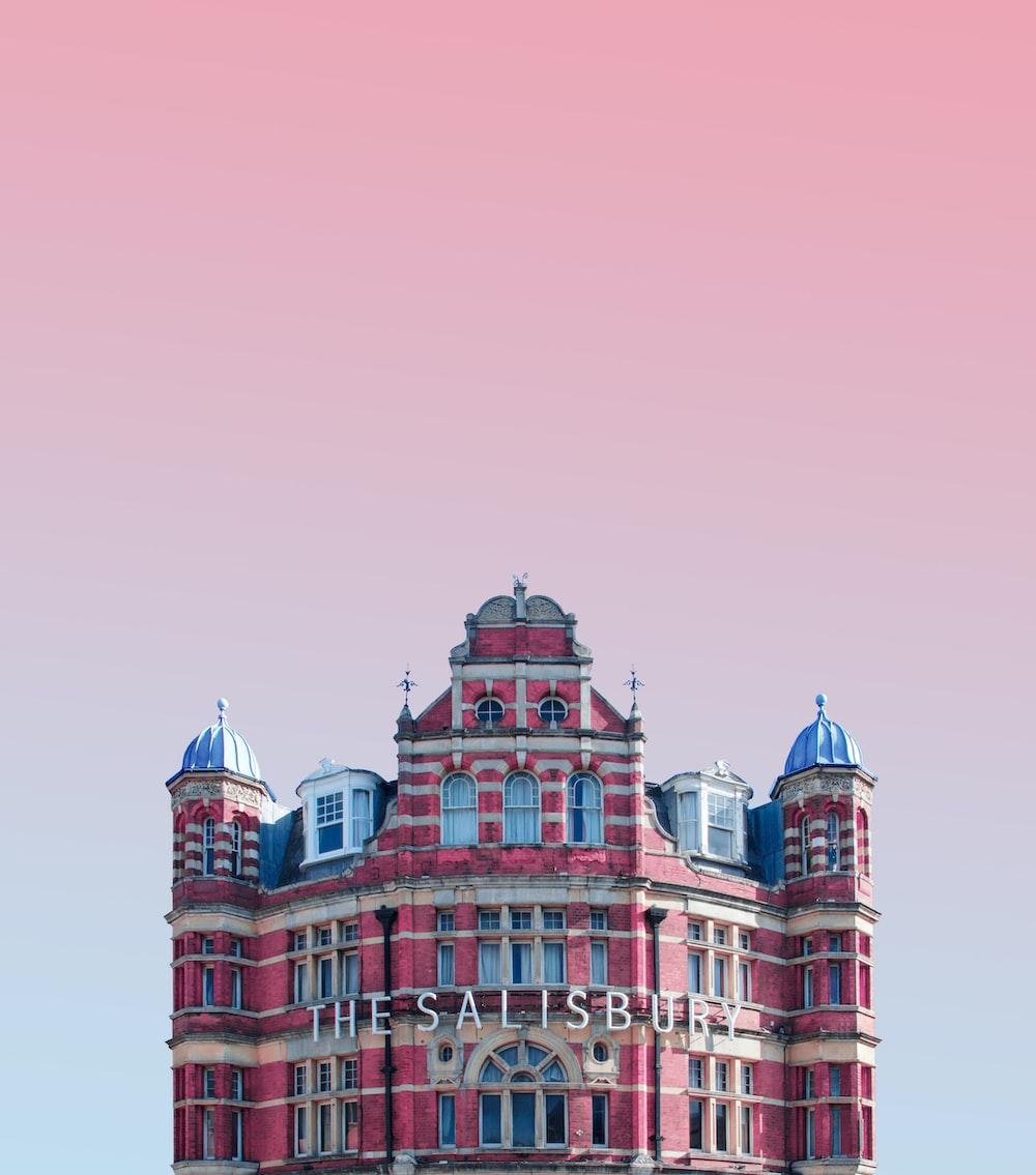 The Salisbury building under pink skies
