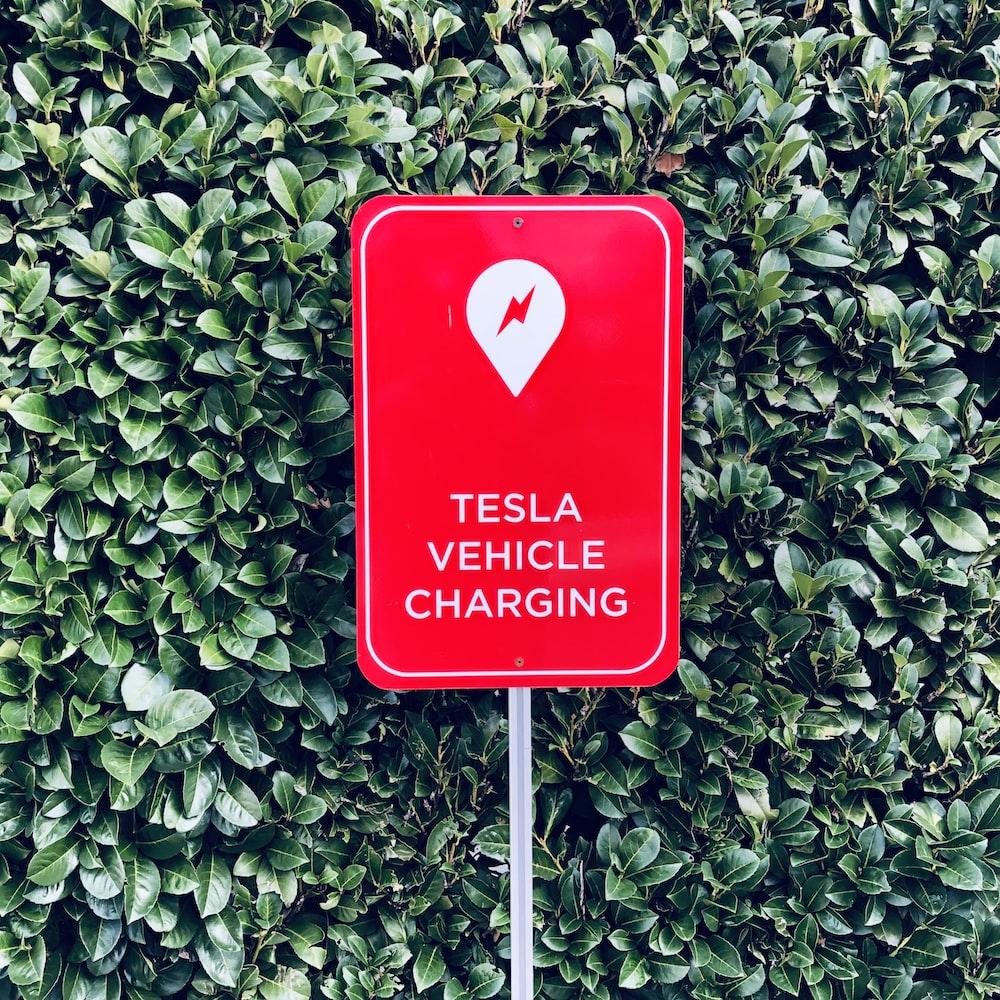 Tesla Vehicle Charging sign