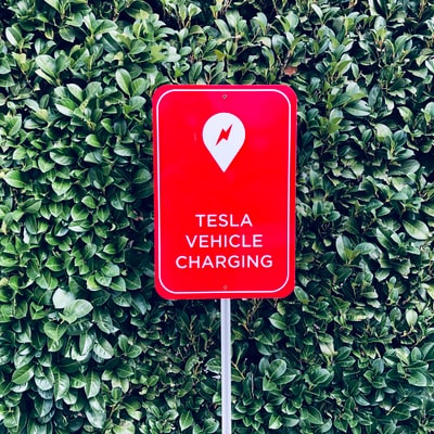 Tesla Sign (Red)