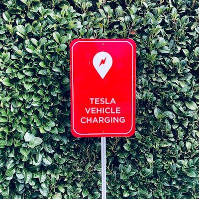Tesla Sign (Red)