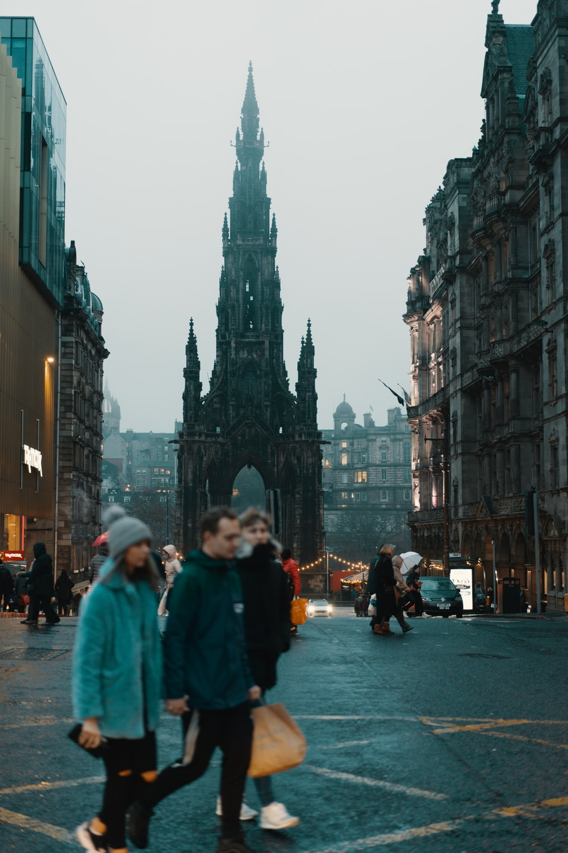 people walking near buildings during daytime
