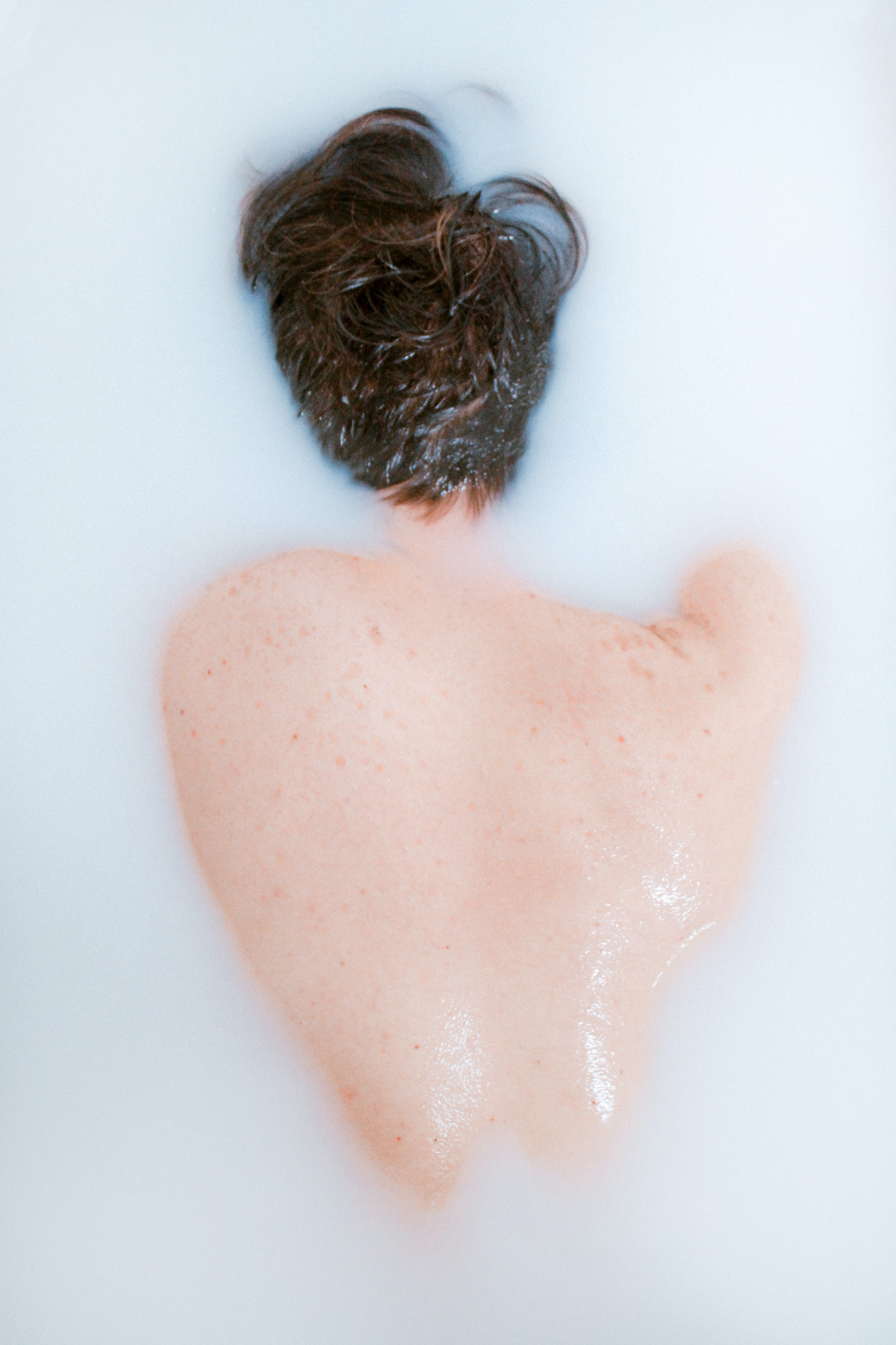 women's white hair