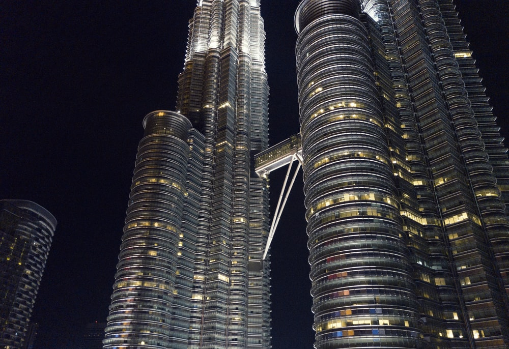 low angle photography of Petronas Tower
