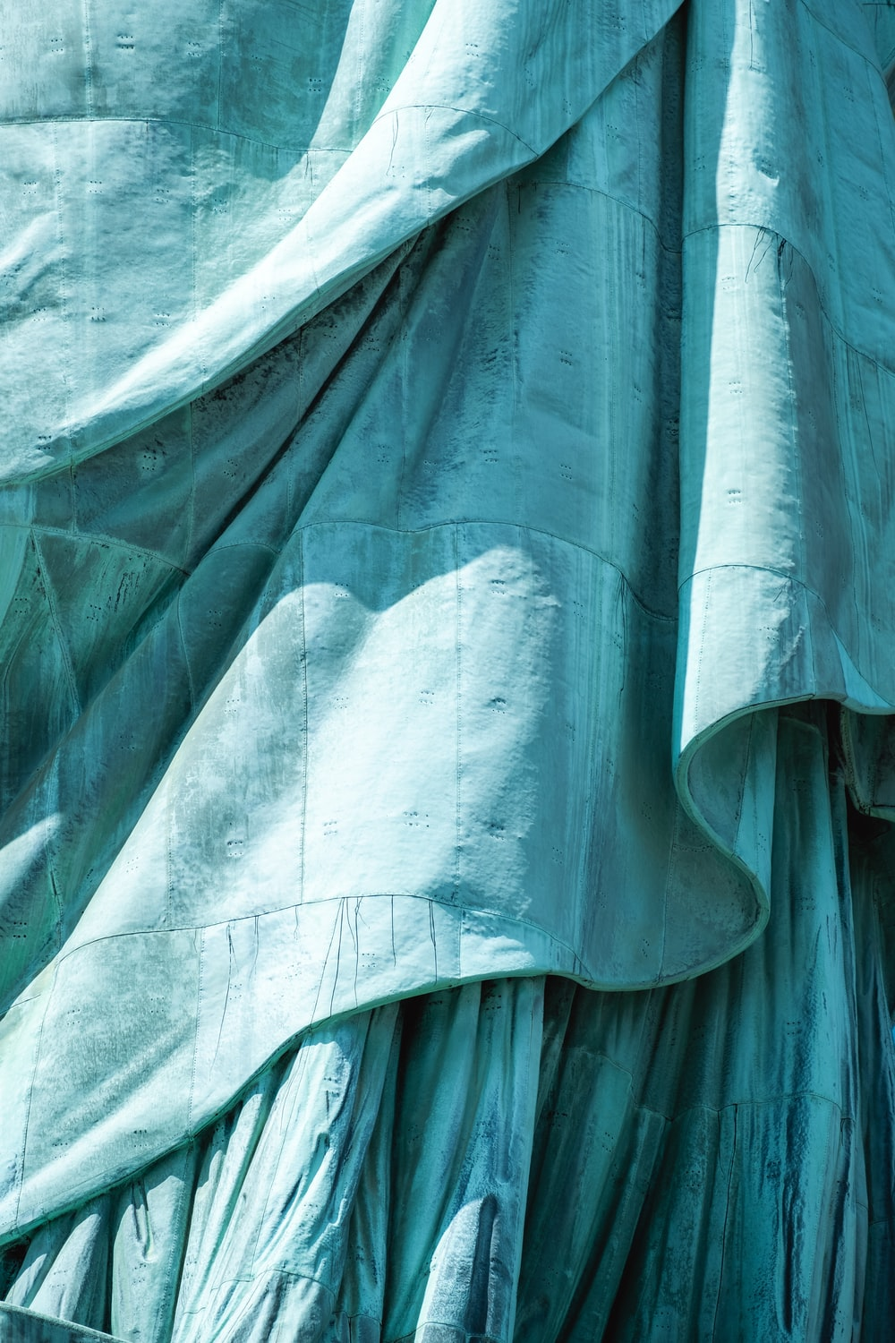 teal fabric cover