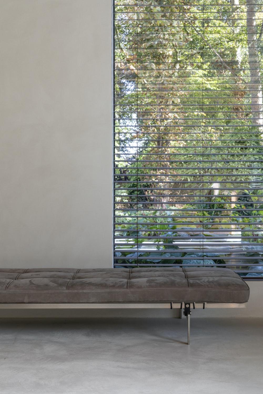 opened window blinds