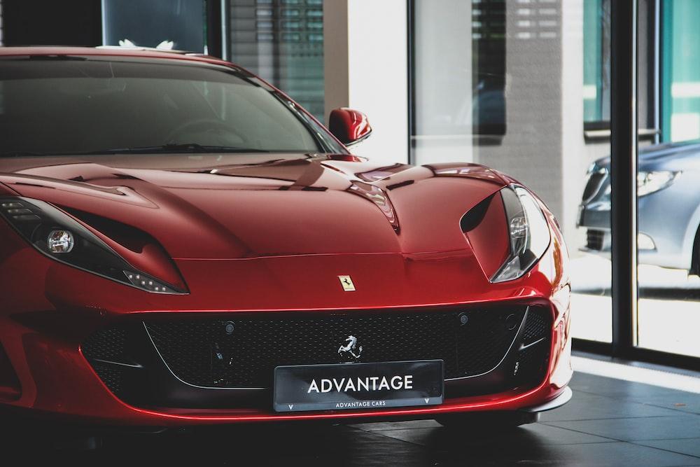 red Ferrari coupe