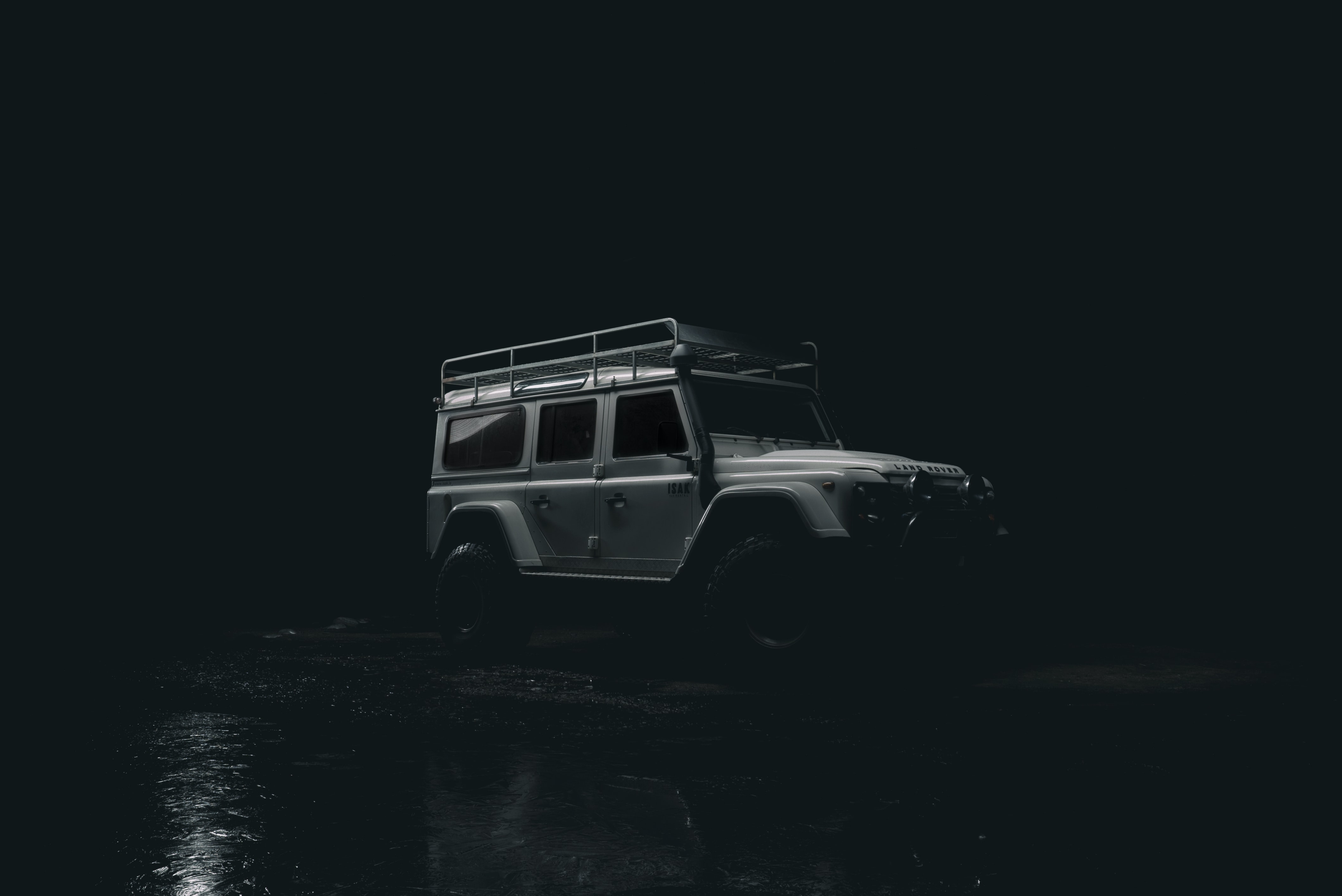 grey Mercedes-Benz G-Class during nighttime