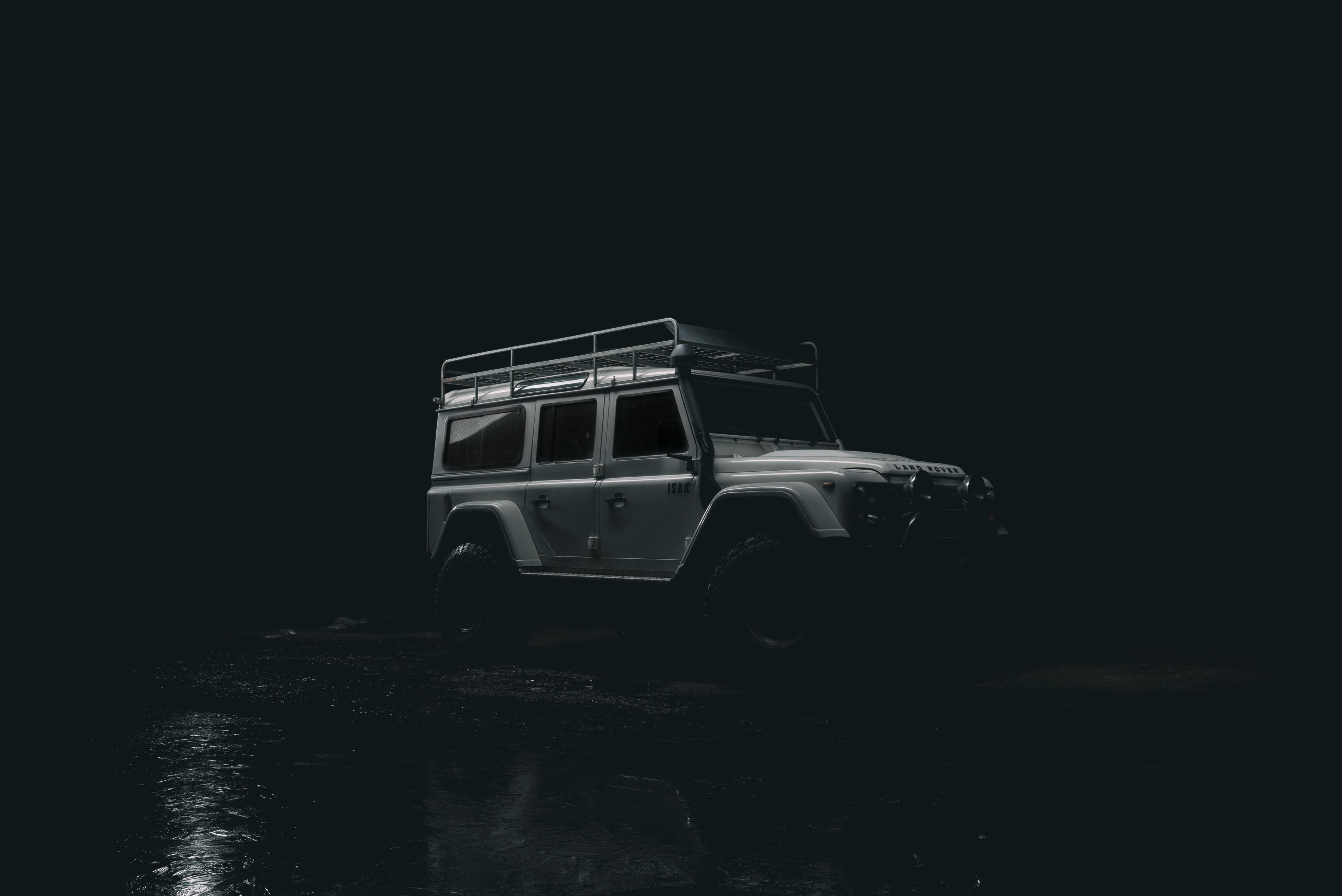 grey Mercedes-Benz G-Class during nighttime