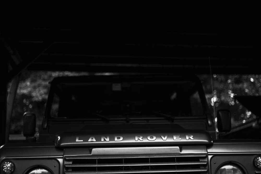black Land Rover vehicle