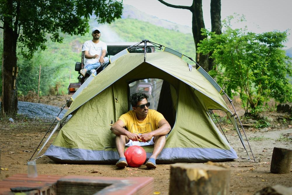 2 men camping