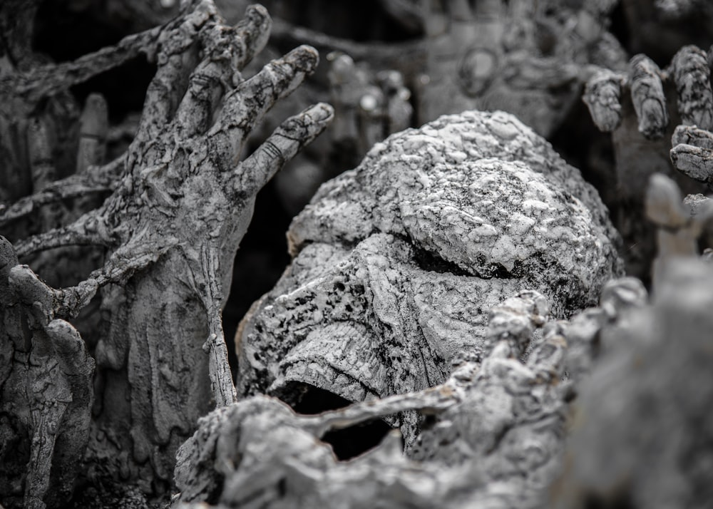 concrete covered skeleton