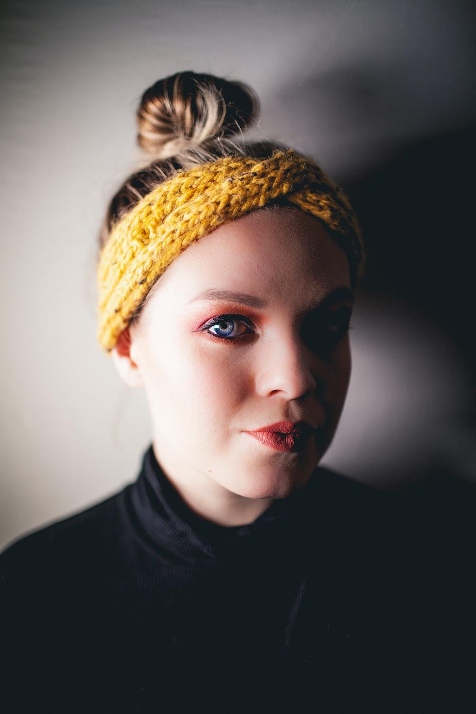 women's yellow headband