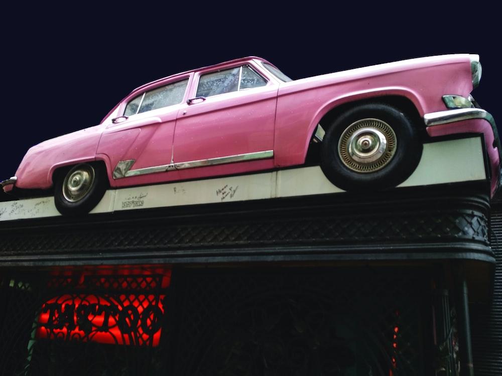 pink sedan car toy