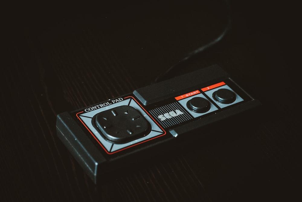 black Sega control pad