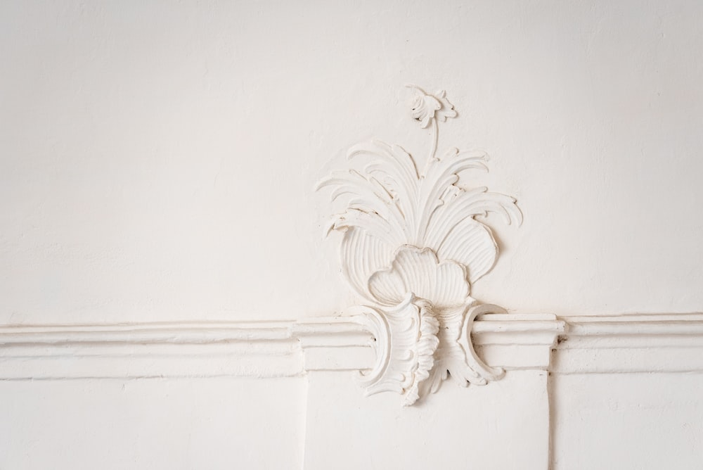 white wooden wall mount rack