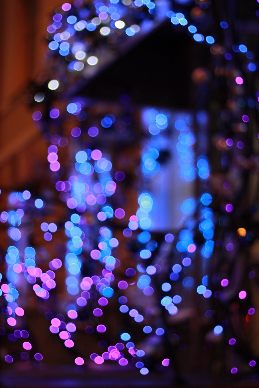 purple and blue lights