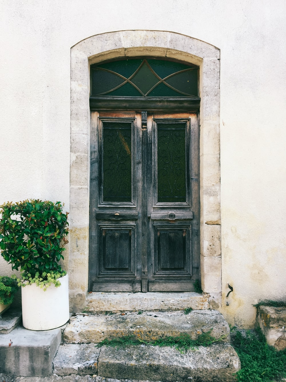 closed door at daytime
