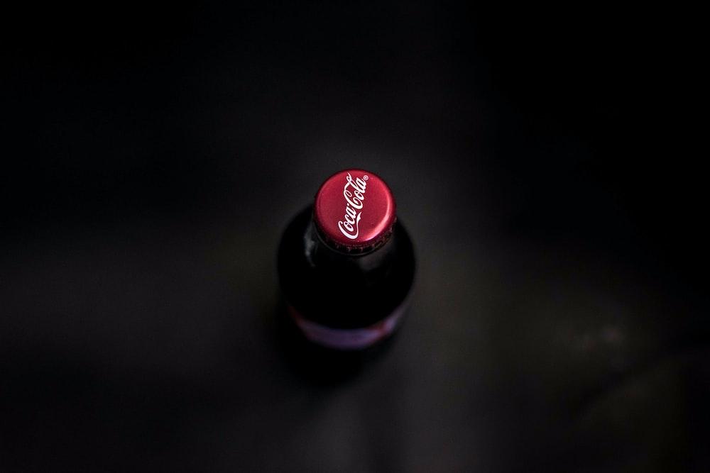 unopened Coca-cola glass bottle