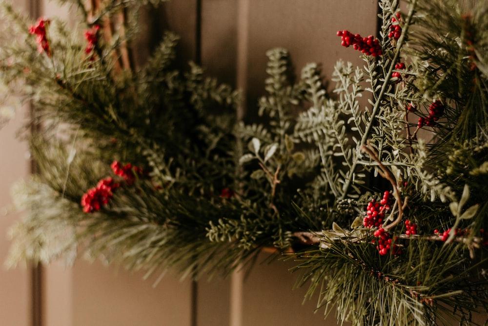 wreath on wall