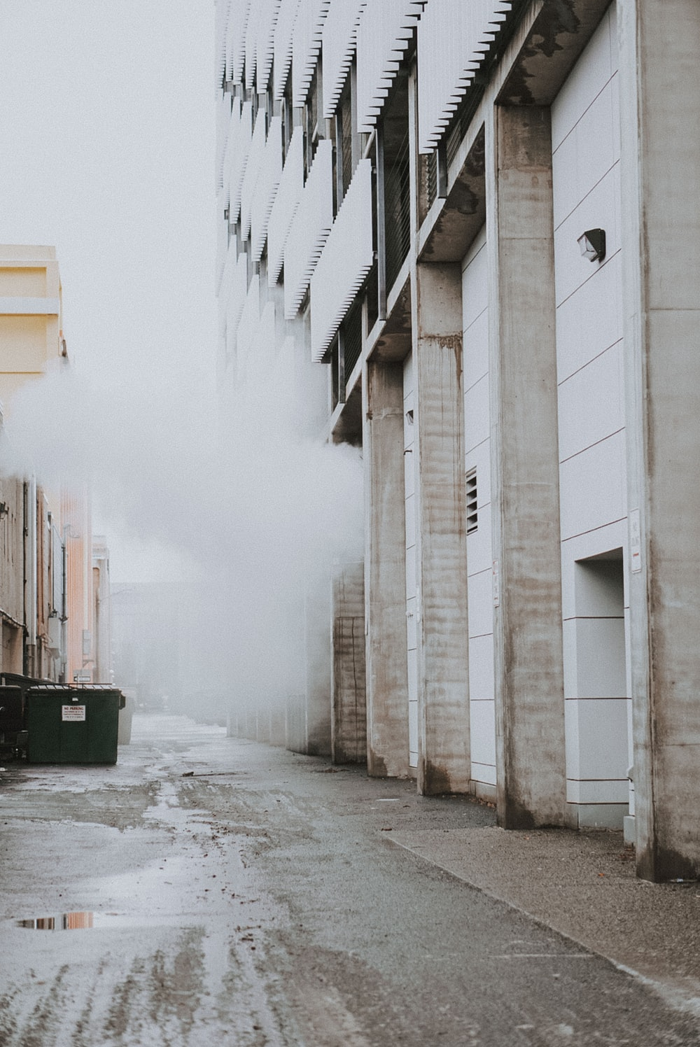 smoke coming out from building