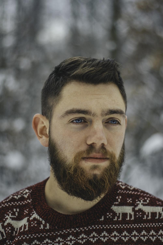 man wearing maroon and white Fair Isle top